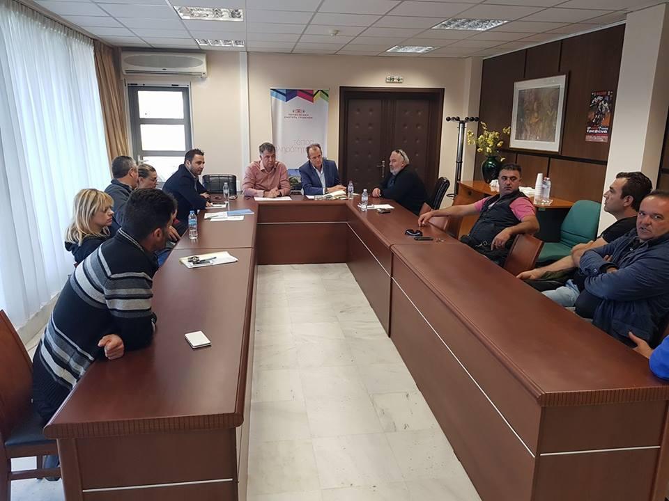 Συνάντηση του αντιπεριφερειάρχη Γρεβενών Βαγγέλη Σημανδράκου  με τον Πρόεδρο και τα μέλη του Αγροτικού Συνεταιρισμού Γρεβενών