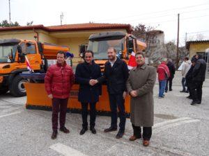 Δηλώσεις του Περιφερειάρχη Θ. Καρυπίδη για το φυσικό αέριο στα Γρεβενά κατά την παραλαβή των 4 εκχιονιστικών μηχανημάτων, δωρεά από τον TAP (βίντεο-φωτογραφίες)
