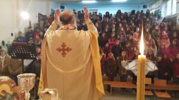 Θεία Λειτουργία στο 1ο Γυμνάσιο Γρεβενών (φωτογραφίες)
