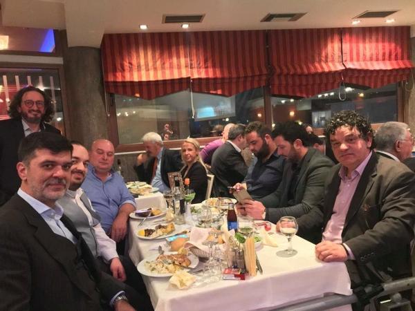 Ο Ανδρέας Πάτσης στην κοπή πίτας της ΝΟΔΕ στη Λάρισα