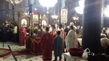Ακολουθία των Α΄ Χαιρετισμών στον Ιερό Μητροπολιτικό Ναό της Ευαγγελιστρίας Γρεβενών (φωτογραφίες)