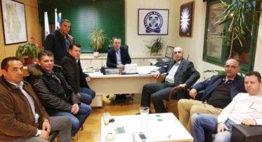 Συνάντηση των Σωματείων Συνοριακών Φυλάκων με τον Γεν. Περιφ. Αστυνομικό Διευθυντή Δυτ. Μακεδονίας Αθ. Μαντζούκα στην Κοζάνη