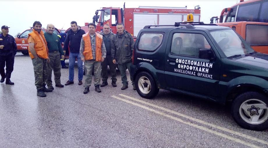 Εθελοντική ομάδα του ΚΥΝΗΓΕΤΙΚΟΥ ΣΥΛΛΟΓΟΥ ΓΡΕΒΕΝΩΝ