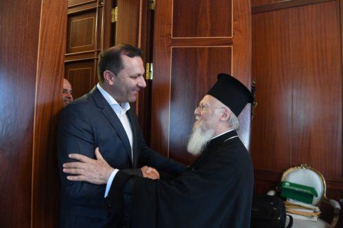 Ο Υπουργός Εσωτερικών της FYROM στο Οικουμενικό Πατριαρχείο. Αντιπροσωπεία της υπό το Πατριαρχείο Μόσχας Ουκρανικής Ορθόδοξης Εκκλησίας στον Παναγιώτατο Οικουμενικό Πατριάρχη Βαρθολομαίο.
