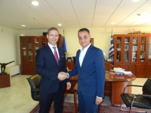 Επίσκεψη του Προξένου των ΗΠΑ στον Περιφερειάρχη Δυτικής Μακεδονίας