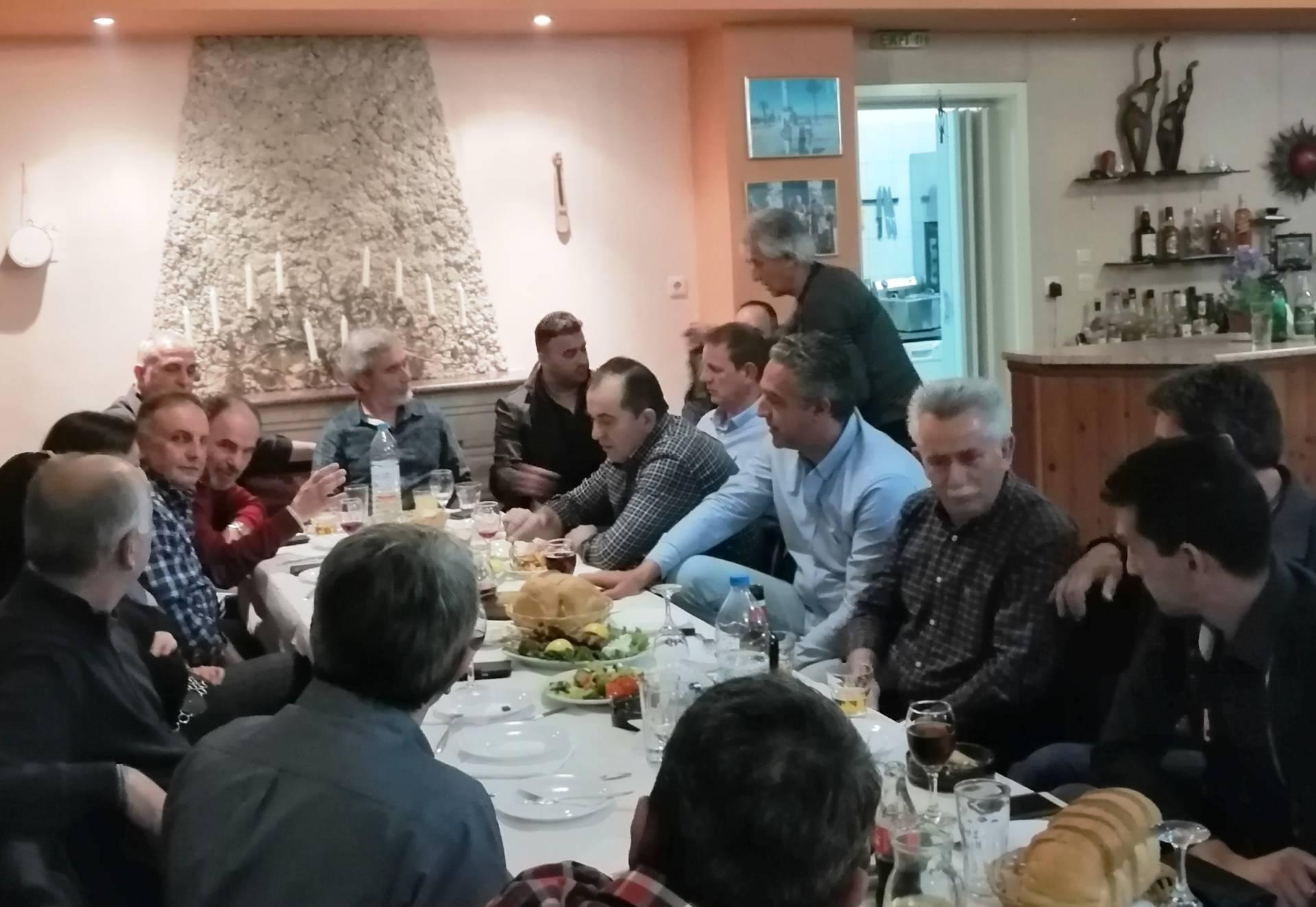 Συνάντηση των υποψηφίων του Κώστα Παλάσκα