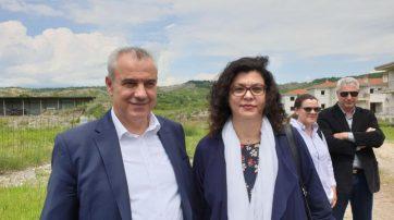 Επίσκεψη της διοικήτριας του ΟΑΕΔ στον οικισμό εργατικών κατοικιών «Κυρά Καλή» στα Γρεβενά