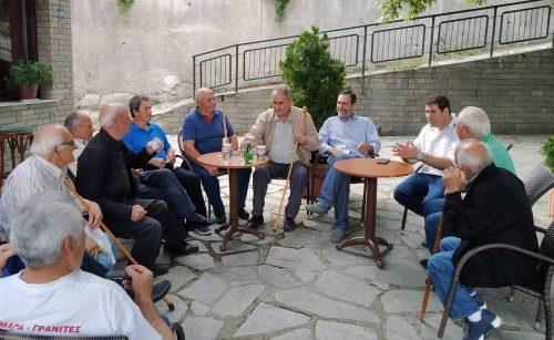 Επίσκεψη του υπ. Βουλευτή της ΝΔ Θανάση Σταυρόπουλου στα χωριά Μοναχίτι, Τρίκωμο, Κοσμάτι Μαυρονόρος, Μαυραναίοι