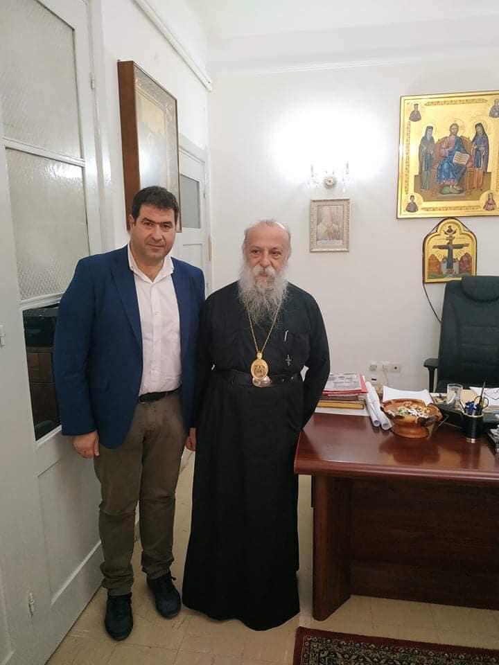 Επίσκεψη του υπ. Βουλευτή Γρεβενών Θανάση Σταυρόπουλου στον Μητροπολίτη Γρεβενών