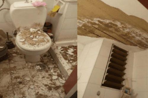 Ιωάννινα: Ταβάνι έπεσε σε μπάνιο φοιτήτριας την ώρα που αυτή λουζόταν