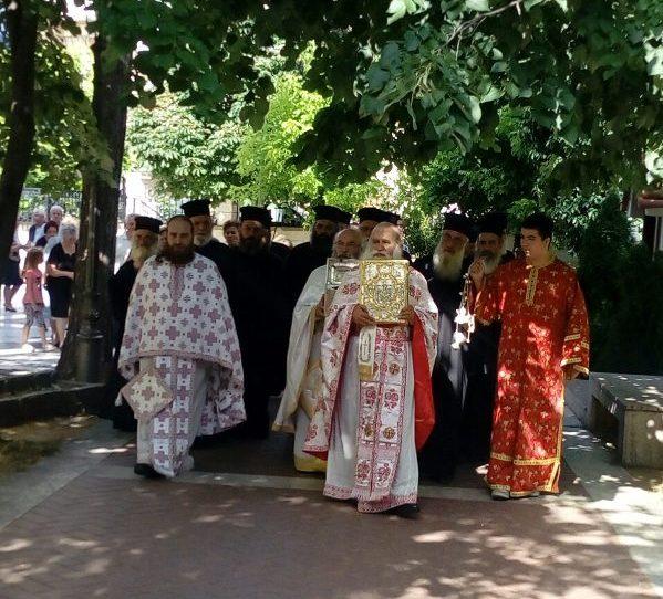 Η αναχώρηση της Τίμιας Κάρας του Οσίου Νικάνορος και το πενταετές μνημόσυνο του Μακαριστού Σεργίου