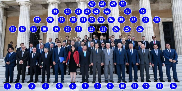 Γνωρίστε έναν προς έναν όλους τους υπουργούς της κυβέρνησης Μητσοτάκη