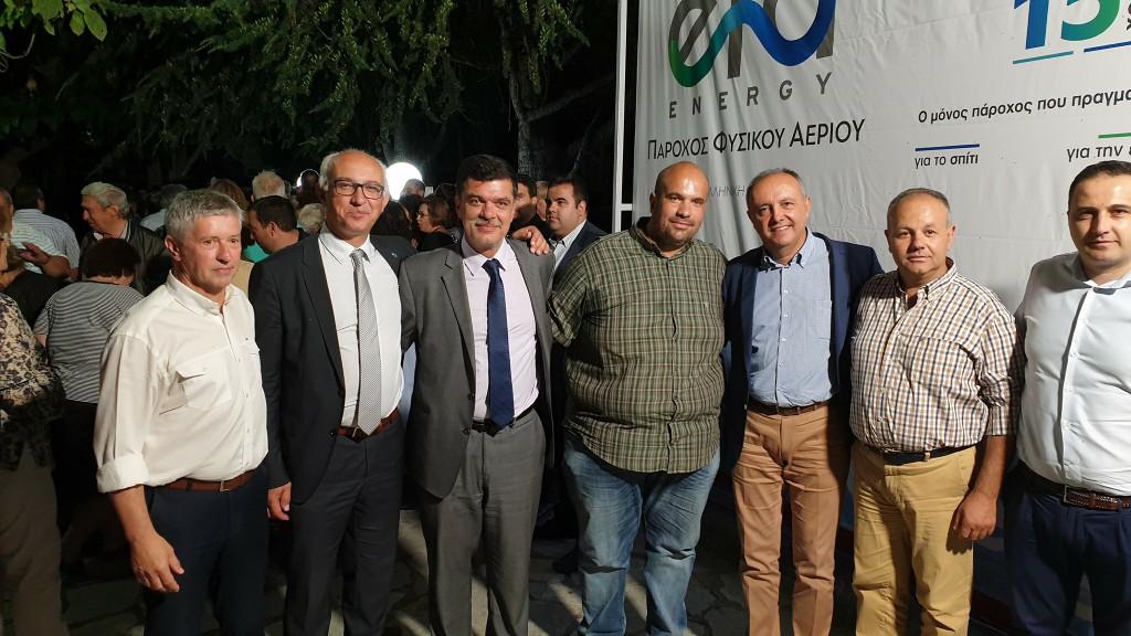 Παρουσία του βουλευτή Γρεβενών, Ανδρέα Πάτση, στην εκδήλωση για την έναρξη των εργασιών για το φυσικό αέριο στη Δεσκάτη