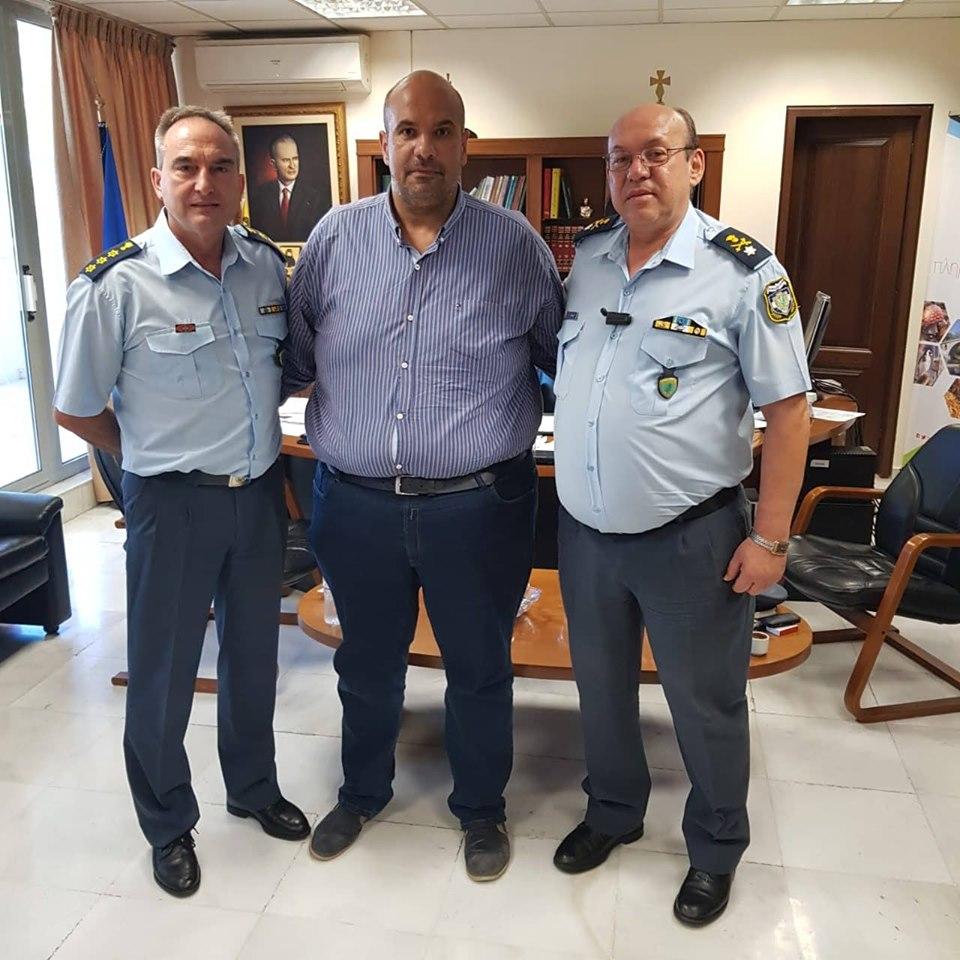 Επίσκεψη του Γενικού Περιφερειακού Αστυνομικού Διευθυντή Δυτικής Μακεδονίας στον Αντιπεριφερειάρχη Γρεβενών Γιάννη Γιάτσιο