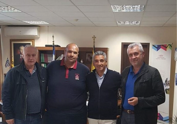 Επίσκεψη πρόεδρου και μελών του ΔΣ του Επιμελητηρίου στον Αντιπεριφερειάρχη Γρεβενών