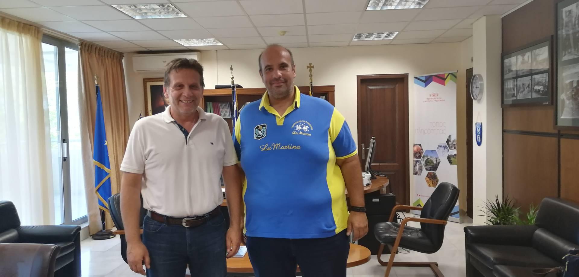 Επίσκεψη του Διευθυντή του ΙΕΚ Γρεβενών κ.Χρήστου Τριμίντζιου στον κ. Γιάννη Γιάτσιο