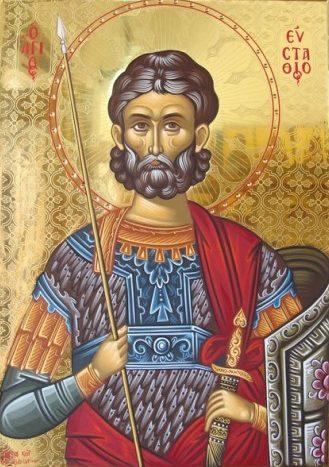 Άγιος Ευστάθιος: Ο Βίος του Μεγαλομάρτυρα Ευστάθιου