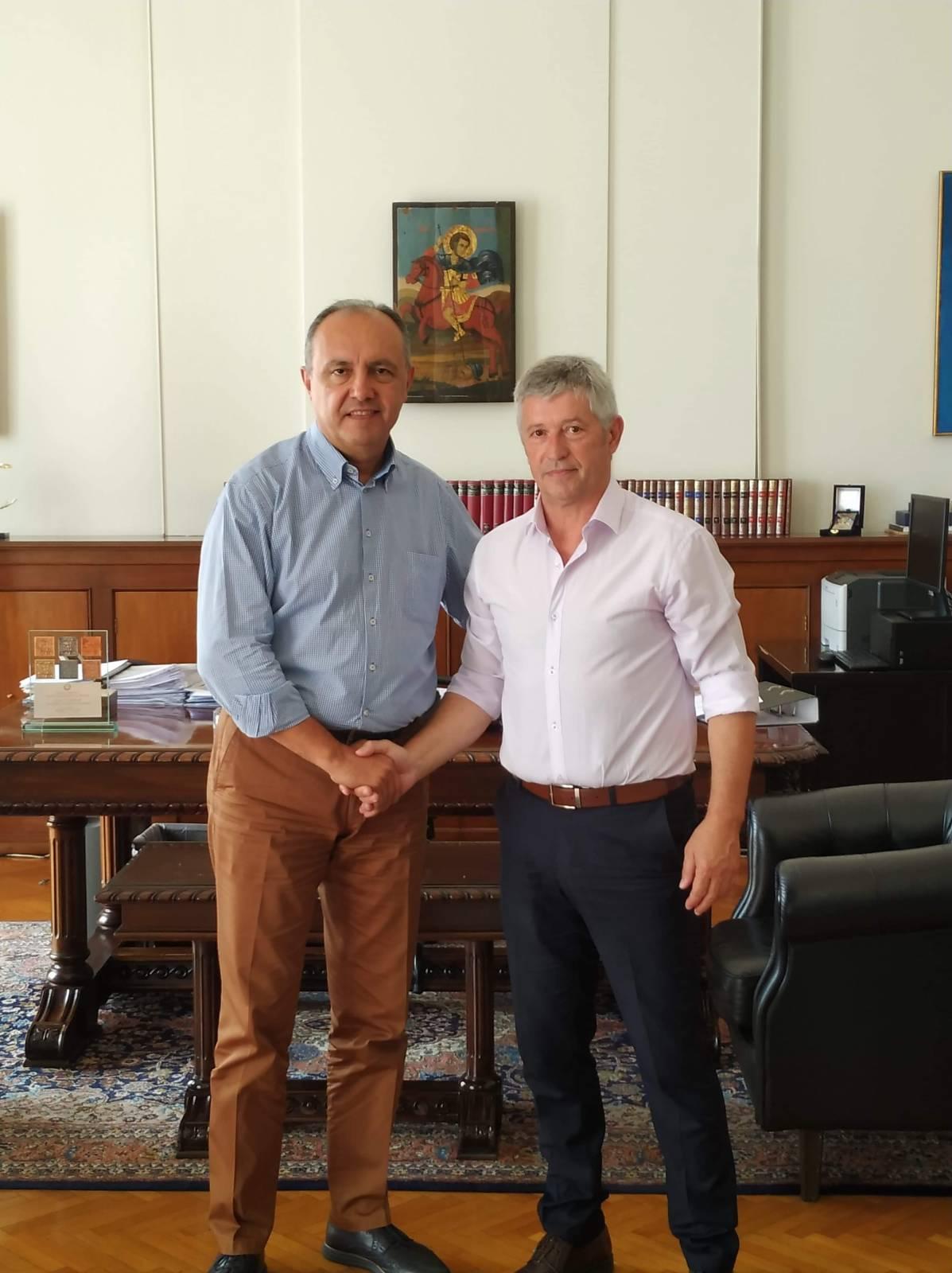 Η συνάντηση του Κορδίλα Δημήτρη με τον Υφυπουργό Εσωτερικών κ. Καράογλου Θεόδωρο