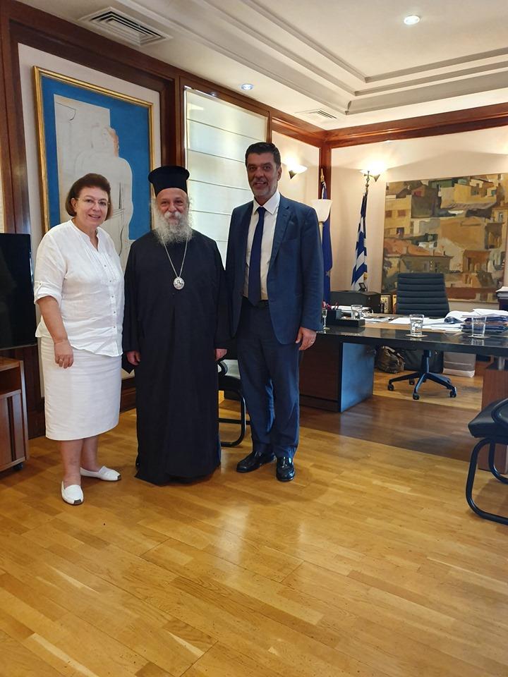 Συνάντηση του Βουλευτή Γρεβενών κ.Ανδρέα Πάτση και του Μητροπολίτη κ.κ.Δαβίδ με την Υπ.Πολιτισμού.Κάτι κινείται για την Μονή Ταξιαρχών της Κοινότητας Ταξιαρχών