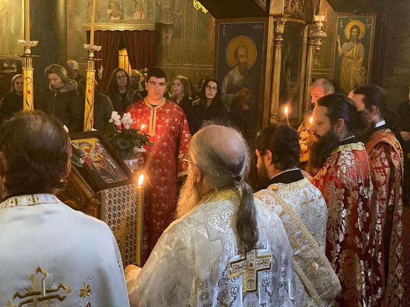 Ιερά Αγρυπνία τελέσθηκε στον Ιερό Μητροπολιτικό Ναό Ευαγγελισμού της Θεοτόκου Γρεβενών