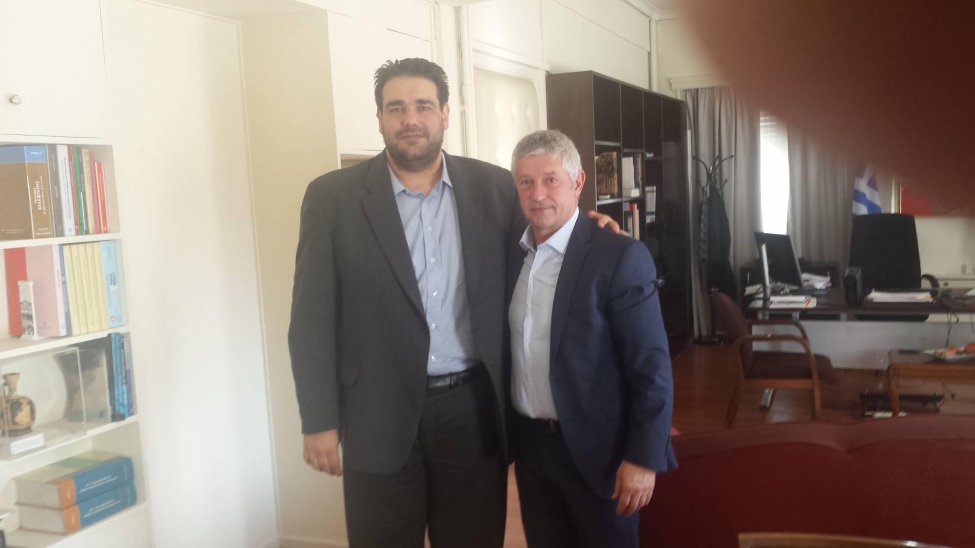 Συνάντηση Δημάρχου Δεσκάτης με τον Υφυπουργό Εσωτερικών κ.Λιβάνιο Θεόδωρο