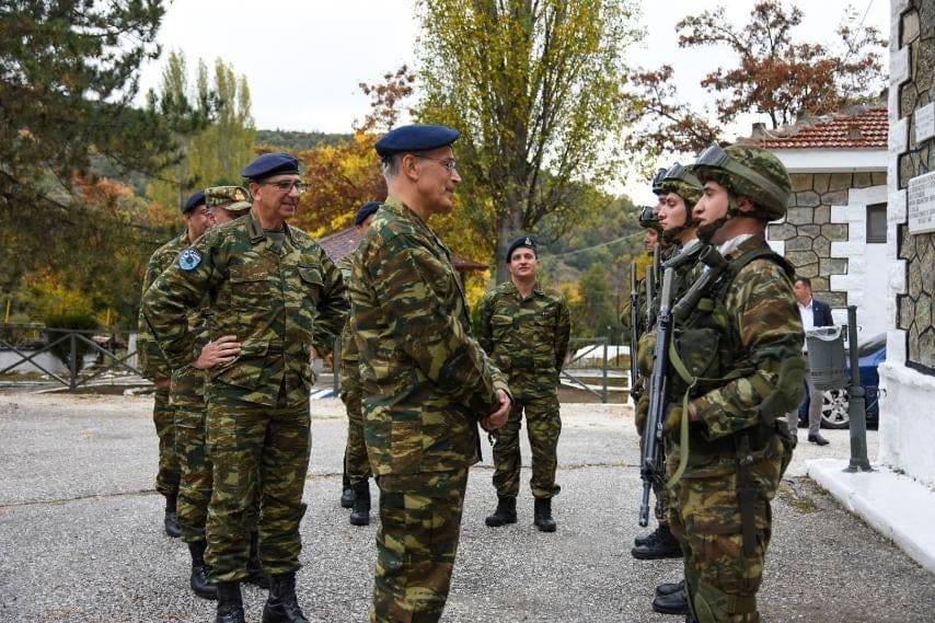 Σε ακριτικά φυλάκια στη Δυτική Μακεδονία ο αρχηγός ΓΕΣ
