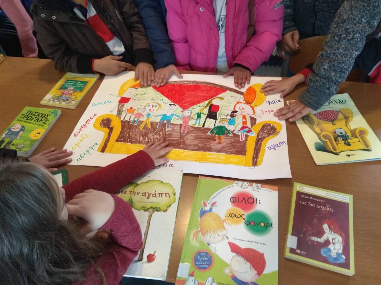 Τη βιβλιοθήκη επισκέφτηκαν οι μαθητές του δημοτικού και του νηπιαγωγείου Κρανιάς μαζί με τους μαθητές του τμήματος ΔΥΕΠ