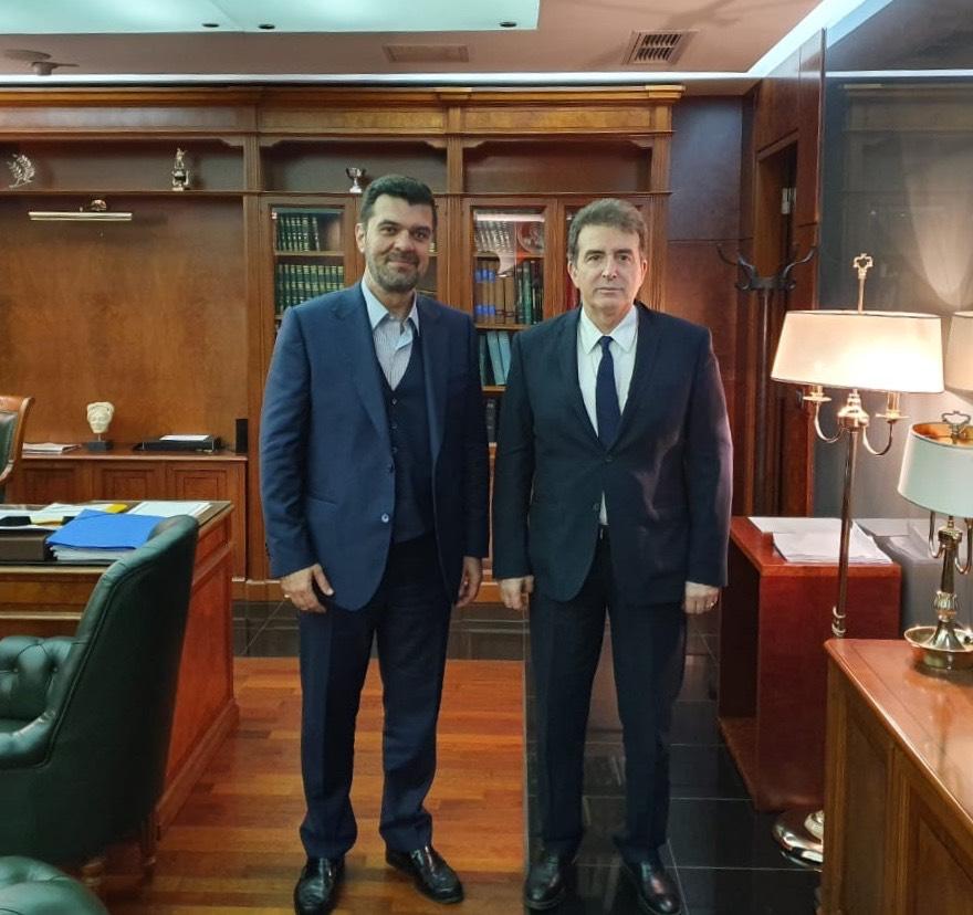 Συνάντηση του βουλευτή Γρεβενών κ.Ανδρέα Πάτση με τον Υπουργό Προστασίας του Πολίτη Μιχ. Χρυσοχοΐδη