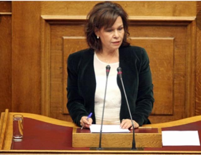 Η βουλευτής Καρδίτσας Ασημίνα Σκόνδρα ευχαριστεί την Αστυνομική Διεύθυνση Γρεβενών
