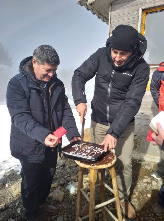 Αγιασμός και κοπή Βασιλόπιτας πραγματοποιήθηκε στο Εθνικό Χιονοδρομικό Κέντρο Βασιλίτσας