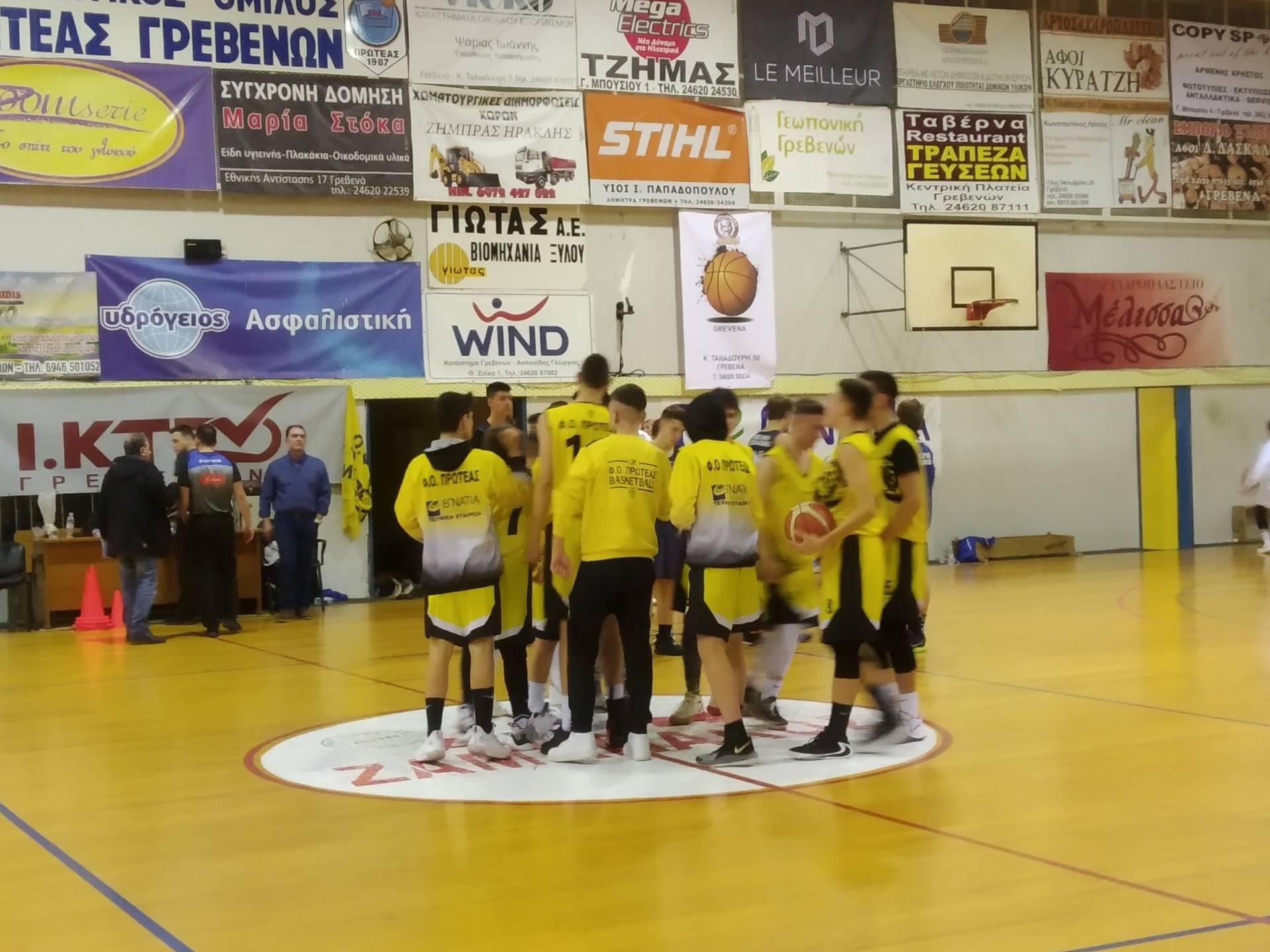 Η παιδική ομάδα του Πρωτέα Γρεβενών κέρδισε στην παράταση με 92-86 τον Α.Π.Σ.Πτολεμαίδας
