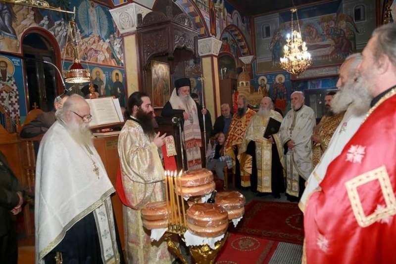 Εσπερινός για την εορτή της Υπαπαντής πραγματοποιήθηκε στην Κυρακαλή Γρεβενών