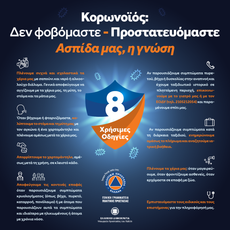 Περιφέρεια Δυτικής Μακεδονίας: Ενημέρωση για τον κορονοϊό από τη Γενική Γραμματεία Πολιτικής Προστασίας
