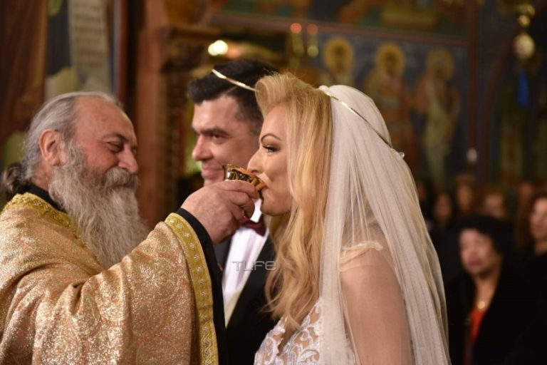 Ανδρέας Πάτσης – Βασιλική Παπαλουκά: Ο βουλευτής και η παρουσιάστρια παντρεύτηκαν του Αγίου Βαλεντίνου – Φωτογραφίες