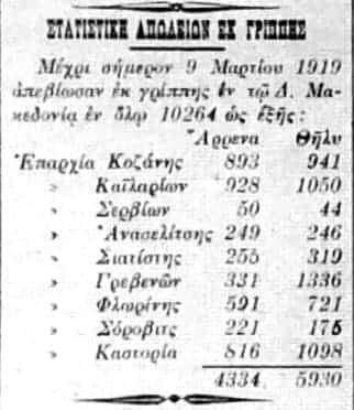 1667 νεκροί το 1919 στα Γρεβενά από την ισπανική γρίπη