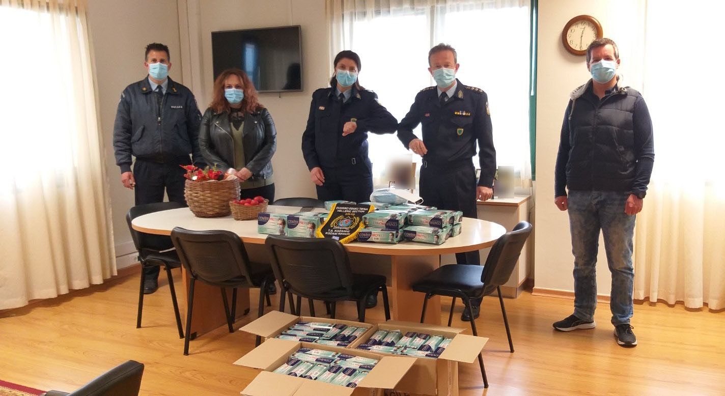 7.500 προστατευτικές μάσκες για το προσωπικό των Αστυνομικών Υπηρεσιών της Κοζάνης