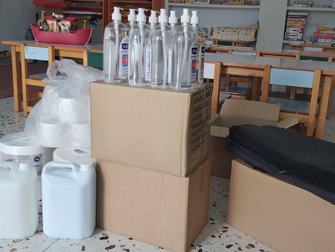 Διανομή Υγειονομικού Υλικού στις Σχολικές Δομές του Δήμου Γρεβενών
