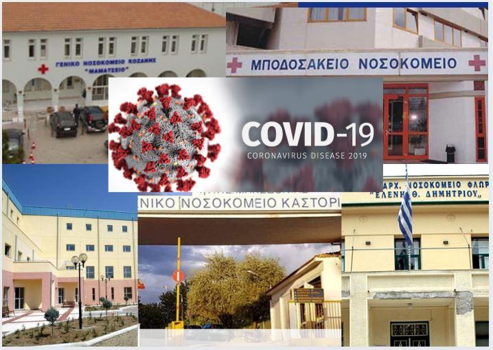 Covid-19: Η ημερήσια αναφορά για τα Νοσοκομεία της Δ.Μακεδονίας