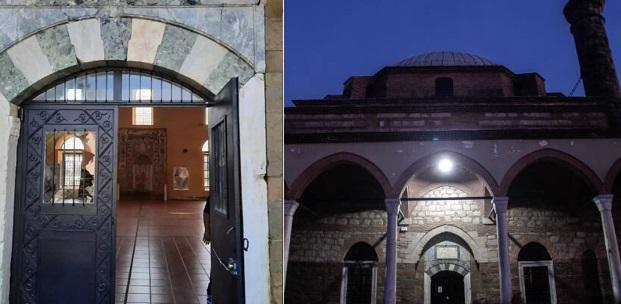 Τρίκαλα: Άγνωστοι βανδάλισαν το Κουρσούμ Τζαμί με αφορμή τηνπροκλητική απόφαση Ερντογάν