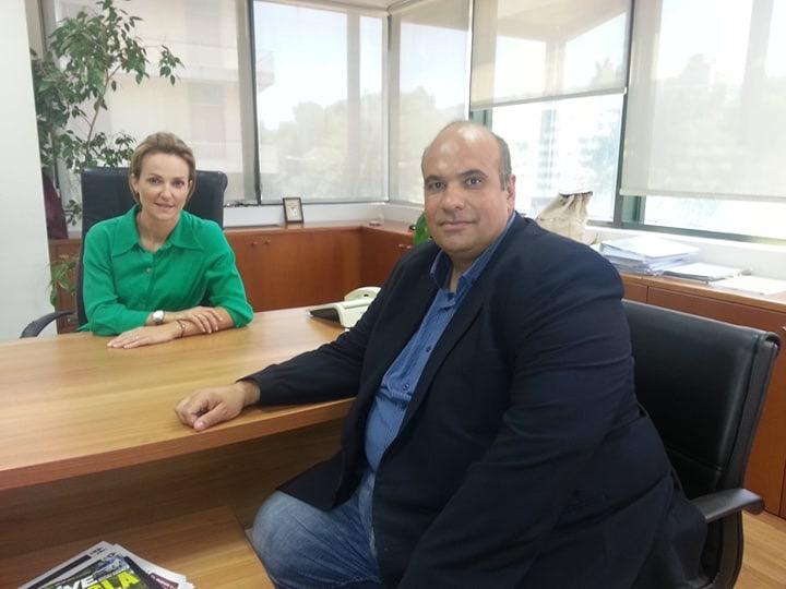 Επίσκεψη του Αντιπεριφερειάρχη Γρεβενών, στην Γ.Γ του Υπουργείου Περιβάλλοντος και Ενέργειας κ.Αλεξάνδρα Σδούκου