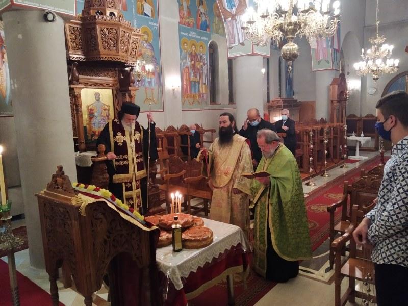 Στον Ιερό Ναό Αγίου Δημητρίου Μεγάρου Γρεβενών ιερούργησε ο Σεβασμιώτατος Μητροπολίτης Γρεβενών κ.Δαβίδ