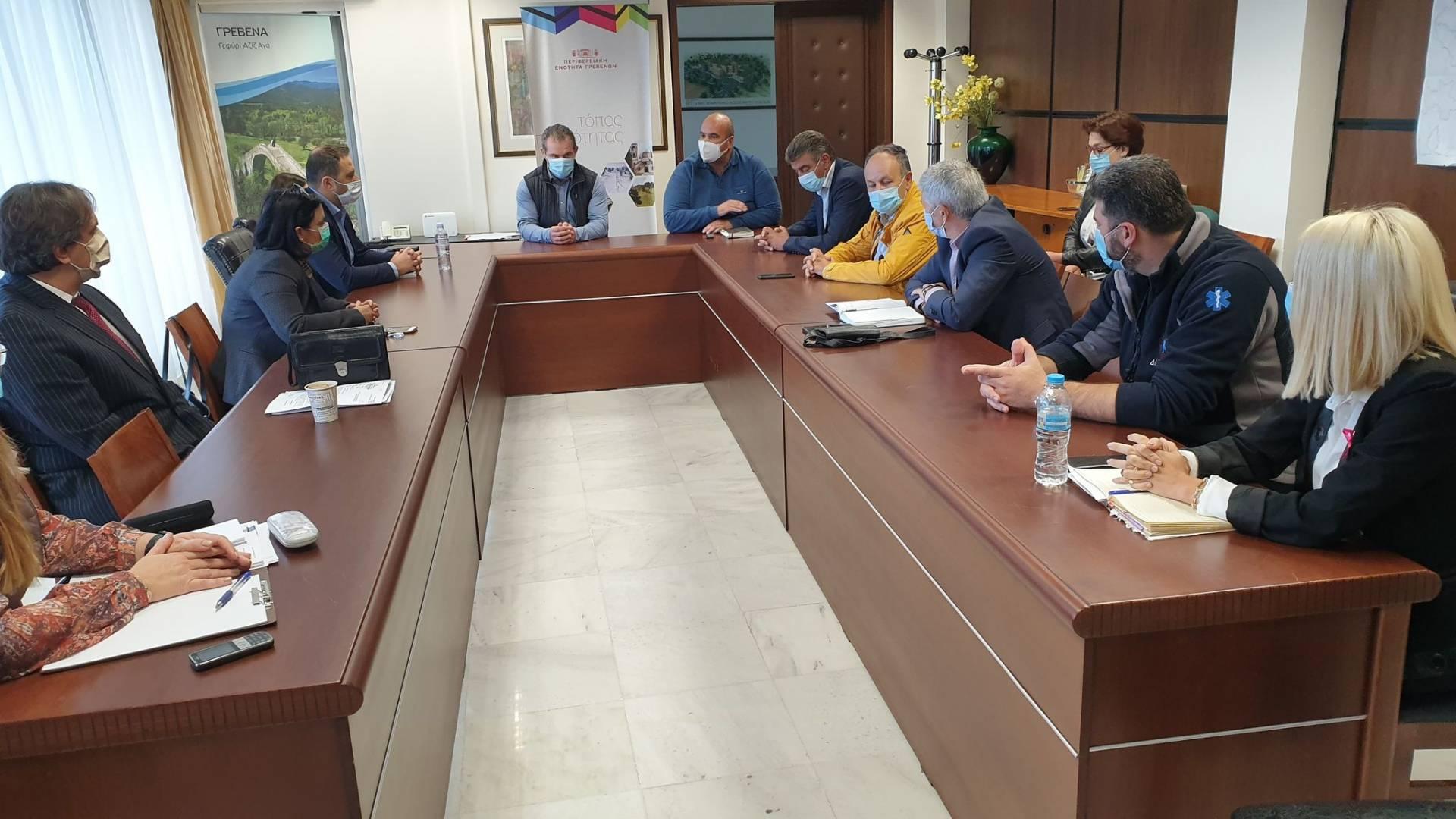 Σύσκεψη με θέμα τη διαχείριση των κρουσμάτων ιού Covid-19 στην Περιφερειακή Ενότητα Γρεβενών
