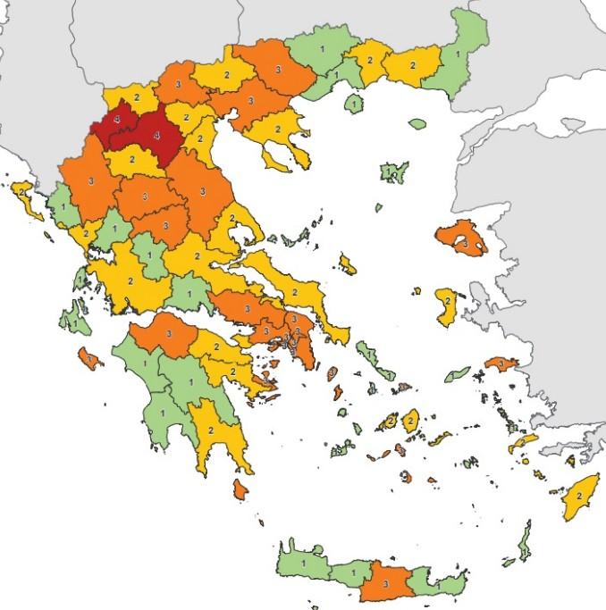 Κοροναϊός: Αλλαγές στο χάρτη υγειονομικής ασφάλειας