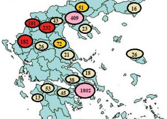 Ποιες περιοχές σαρώνει η πανδημία – «Ορφανά» 6 στα 10 κρούσματα