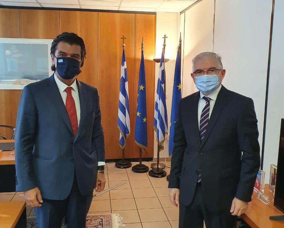 Συνάντηση του Βουλευτή Ν. Γρεβενών κ. Ανδρέα Πάτση με τον Πρόεδρο του ΕΛ.Γ.Α. , κ. Ανδρέα Λυκουρέντζο