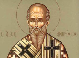 7 Δεκεμβρίου: Ο Άγιος Αμβρόσιος -Η μνήμη του τιμάται από την Ορθόδοξη και τη Καθολική Εκκλησία