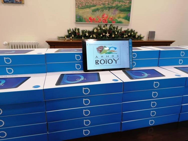 100 tablets τελευταίας τεχνολογίας σε μαθητές του Δήμου Βοΐου