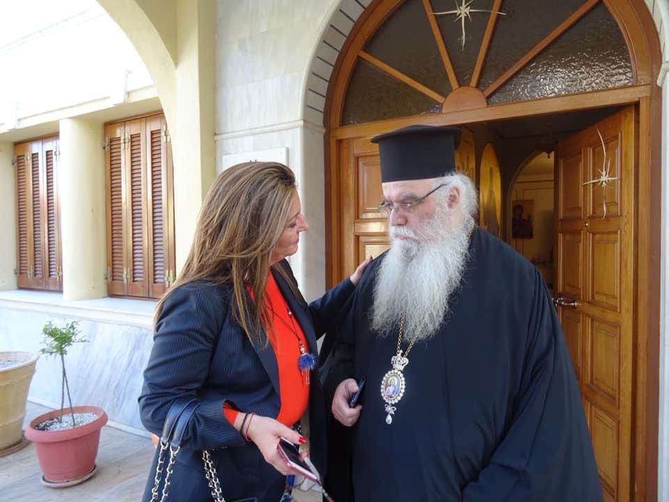 Συλλυπητήριο μήνυμα από την Μαρία Αντωνίου για την κοίμηση του επισκόπου Καστοριάς Σεραφείμ
