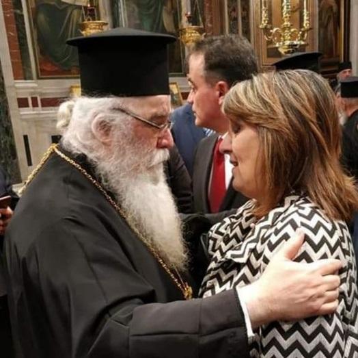 Η Ολυμπία Τελιγιορίδου για την κοίμηση του Μητροπολίτη Καστοριάς Σεραφείμ