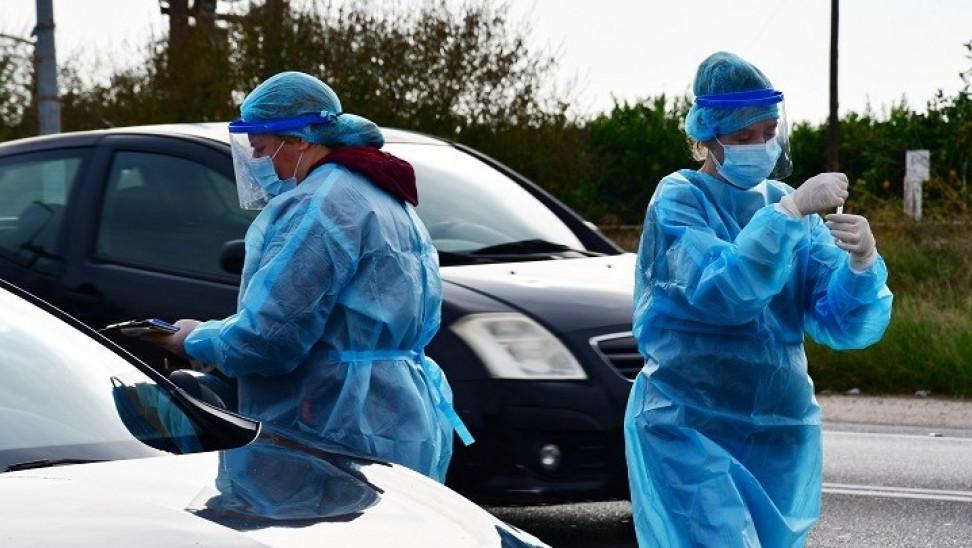 Rapid test μέσα από το αυτοκίνητο στη Δεσκάτη Γρεβενών την Τετάρτη 13 Ιανουαρίου